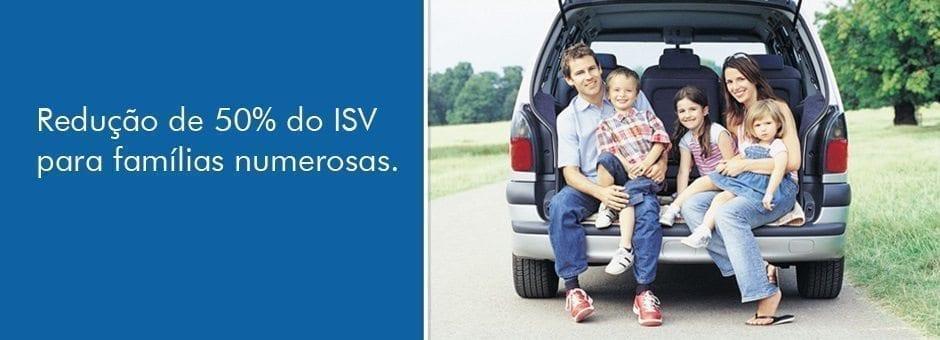 Redução 50% ISV famílias numerosas
