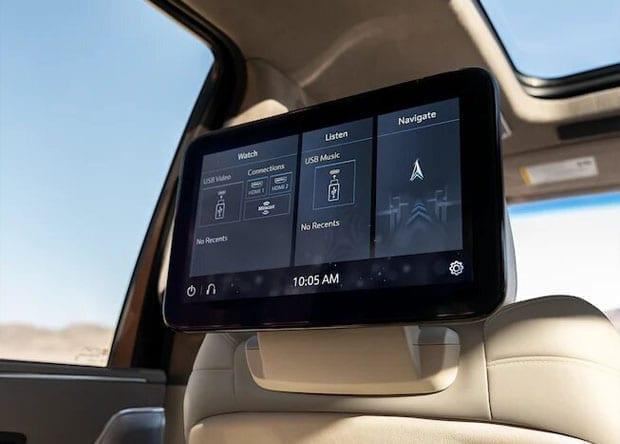 ecrã do Cadillac 2021 Escalade