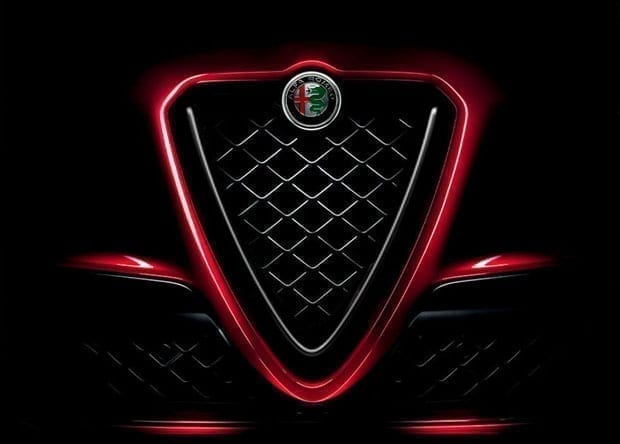 grelha do Alfa Romeo Quadrifoglio