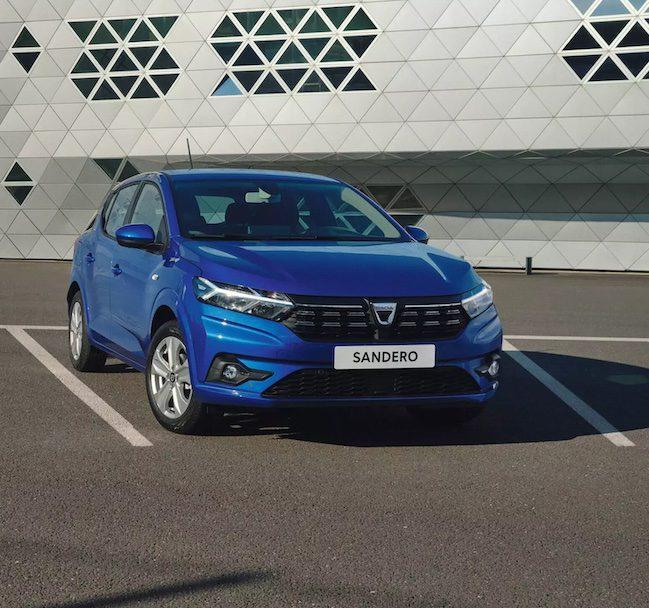 especificações do Dacia Sandero